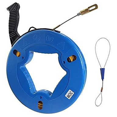 cheap Relay&Wires-Fiberglass Wire Cable Fish Tape Fiberglass Wall line Reel Fish Tape Puller- 5/32-Inch Wide98.4-Foot
