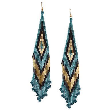 povoljno Modne naušnice-Žene Viseće naušnice Long Posude dame Europska Naušnice Jewelry Duga Za Kamado roštilj 1 par