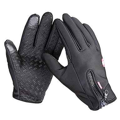 Bike Gloves / Cycling Gloves Ski Gloves Touch Gloves Men's Women's Snowsports Full Finger Gloves Waterproof Windproof Warm Canvas Fleece Ski / Snowboard