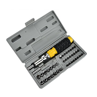 levne Šroubováky-41pc plastová rukojeť pro domácnost kombinovaný nástroj ruční kombinace balení šroubovák set