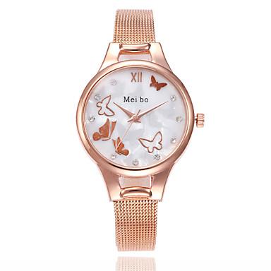 levne Dámské-Dámské Náramkové hodinky Křemenný Stříbro / Zlatá / Růžové zlato Hodinky na běžné nošení Analogové dámy Motýl Módní - Stříbrná Zlatá Růžové zlato