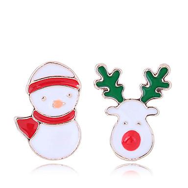 levne Dámské šperky-Dámské Peckové náušnice Neshoda Elk dámy Evropský Módní Cute Style Náušnice Šperky Zlatá Pro Vánoce Denní 1 Pair