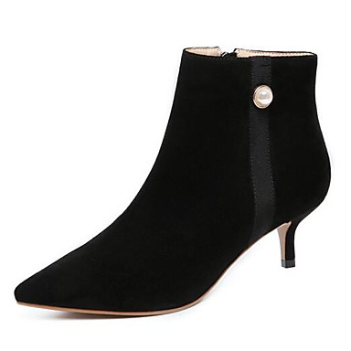 11dd340d2485 Women s Fashion Boots Suede Fall Boots Low Heel Closed Toe Booties   Ankle  Boots Black   Purple 6956986 2019 –  54.99