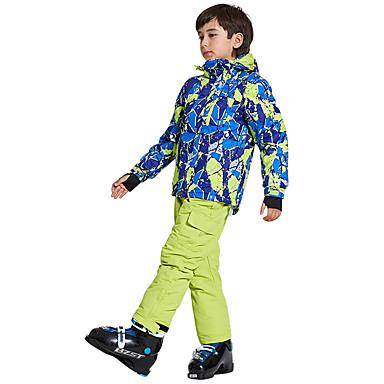 Wild Snow Αγορίστικα Κοριτσίστικα Μπουφάν και παντελόνι για σκι Σκι Πολυάθλημα Αθλήματα Χιονιού Αντιανεμικό Ζεστό Αερισμός Πολυεστέρας Δίχτυ Ρούχα σύνολα Ενδυμασία σκι / Χειμώνας