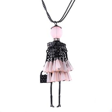 povoljno Modne ogrlice-Žene Duga ogrlica Perlice dame Lutaka Lolita Smola Legura Pink Crvena Pink 69 cm Ogrlice Jewelry 1pc Za Dar Dnevno