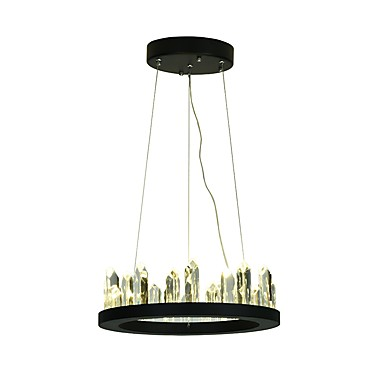 VALLKIN 원형 샹들리에 엠비언트 라이트 Painted Finishes 금속 크리스탈, 조절가능 110-120V / 220-240V 웜 화이트 / 콜드 화이트