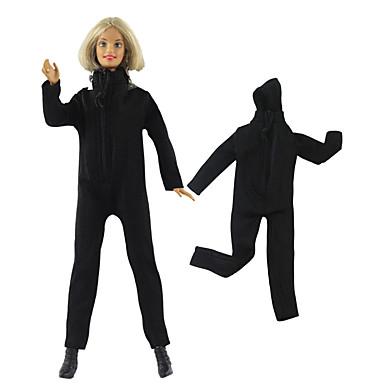 levne Doplňky pro panenky-Panenka Coat Kalhoty Topy Pro Barbie Černá Netkaná textilie Látka Bavlněné tkaniny Kočičí oblek Pro Dívka je Doll Toy