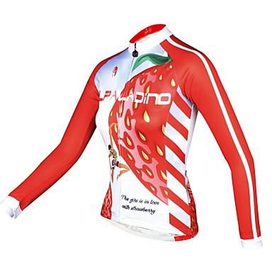 ILPALADINO Žene Dugih rukava Biciklistička majica Pink Bicikl Biciklistička majica Majice Ugrijati Podstava od flisa Ultraviolet Resistant Sportski Zima Elastan Runo Brdski biciklizam biciklom na