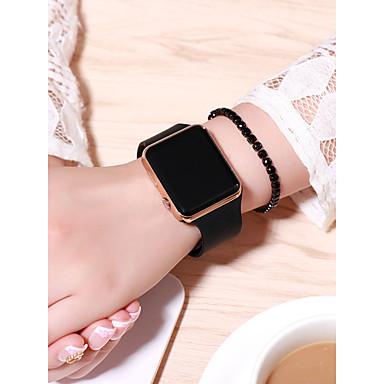 povoljno ženski digitalni satovi-Žene digitalni sat Square Watch Šiljci za meso Silikon Crna 30 m Kreativan LCD Šiljci za meso Moda - Crn Zlatan Rose Gold