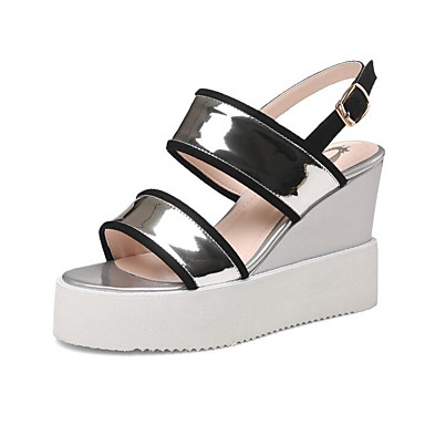 2332a4ea16315 Women s Comfort Shoes Synthetics Summer Sandals Wedge Heel Silver   Pink  6968732 2019 –  44.99