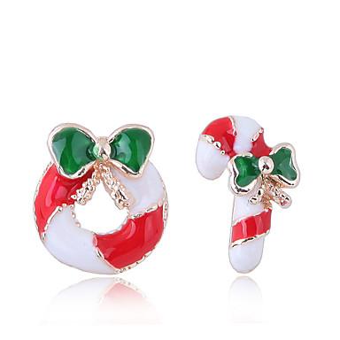 levne Dámské šperky-Dámské Peckové náušnice Neshoda Koblihy Sladkosti dámy Evropský Módní Cute Style Náušnice Šperky Červená Pro Vánoce Denní 1 Pair