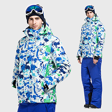 8b409191e3 Vector Men s Ski Jacket with Pants Waterproof Thermal   Warm Windproof  Skiing Camping   Hiking Snowboarding 100% Polyester Space Cotton Winter  Jacket Bib ...