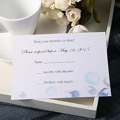 Stan kartica Vjenčanje Pozivnice 20 - Response card Cvjetni Style Pearl papira