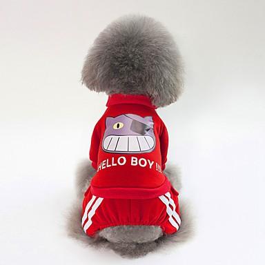Psi Sportska majica Odjeća za psa Jednostavan Uglađeni Dark Blue Crvena Pink Pamuk Kostim Za Buldog Shiba Inu Mops (Pug) Jesen Zima Uniseks Sweet Style Grijači