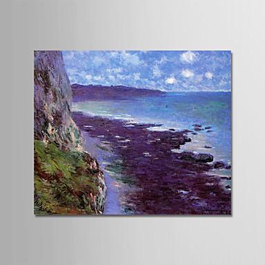 Hang oslikana uljanim bojama Ručno oslikana - Poznat Pejzaž Moderna Uključi Unutarnji okvir / Prošireni platno