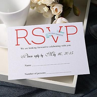 Stan kartica Vjenčanje Pozivnice 20 - Response card Tema bajka Pearl papira