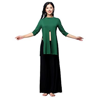 Danza del Vientre Accesorios Mujer Entrenamiento Modal Combinación    Separado Manga 3 4 Cintura Baja Top   Pantalones 6986793 2019 –  49.99 34124feadaac