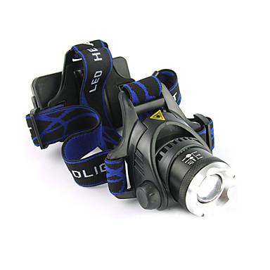 LS059 Pannlampor Framljus till cykel Vattentät Uppladdningsbar 1200 lm LED LED 1 utsläpps 3 Belysning läge med batterier och laddare Vattentät Zoombar Uppladdningsbar Justerbar fokus Stöttålig