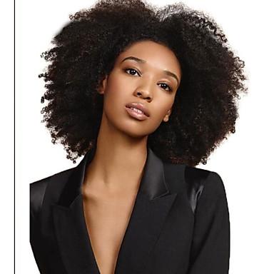 cheap Human Hair Extensions-Dolago Hair 4B 4C Afro Kinky Curly Clip in Human Hair Extensions Natural Black Full Head Brazilian Remy Hair Clip ins