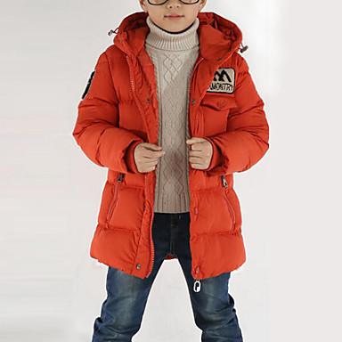 povoljno Odjeća za dječake-Djeca Dječaci Aktivan / Ulični šik Dnevno / Izlasci Kolaž Dugih rukava Dug Poliester Pernata i pamučna podstava Crn 140