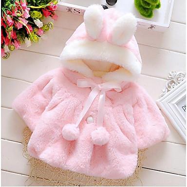 preiswerte Oberbekleidung für Babys-Baby Mädchen Grundlegend Alltag Solide Langarm Standard Baumwolle Jacke & Mantel Purpur