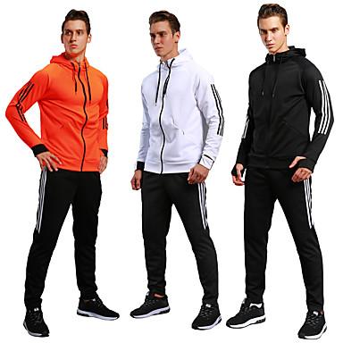 f25d5bb0ecd Men s Drawstring Tracksuit Black Orange Sports Color Block Spandex Pants    Trousers Sweatshirt Clothing Suit Running Fitness Gym Workout Long Sleeve  Plus ...
