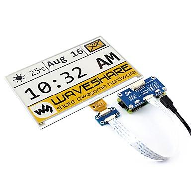 voordelige Elektrische apparatuur & benodigdheden-waveshare 7.5 inch e-paper hat (c) 640x384 7.5 inch e-ink display hoed voor raspberry pi geel / zwart / wit drie kleuren