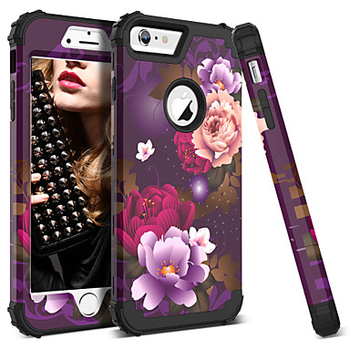 57636fd7e87 BENTOBEN Funda Para Apple iPhone 6 Plus / iPhone 6s Plus Antigolpes /  Diseños Funda de Cuerpo Entero Fruta / Flor Dura Silicona / ordenador  personal para ...
