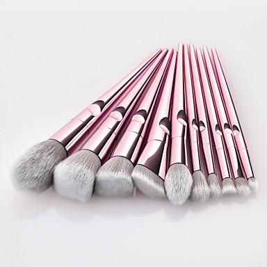 cheap Makeup Brush Sets-10 pcs Professional Makeup Brushes Rose Gold Makeup Foundation Blush Concelaer Contouring Eye Shadow Nylon fibe Brush Kits