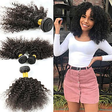 povoljno Ekstenzije od ljudske kose-3 paketa Brazilska kosa Afro Kinky Kinky Curly Remy kosa Ekstenzije od ljudske kose 8-26 inch Natural Isprepliće ljudske kose Najbolja kvaliteta Novi Dolazak Rasprodaja Proširenja ljudske kose / 10A