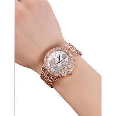 levne Dámské-Dámské Náramkové hodinky Křemenný Nerez Stříbro / Zlatá / Růžové zlato 30 m Hodinky na běžné nošení imitace Diamond Analogové dámy Motýl Módní - Zlatá Stříbrná Růžové zlato