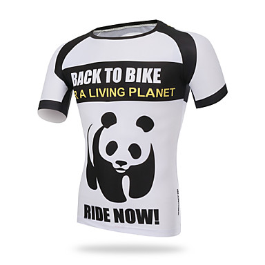 82c0a2db3 XINTOWN Men s Short Sleeve Cycling Jersey - Black and White Fashion Bike  Tee   T-shirt Jersey Top