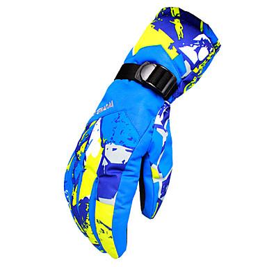 Χειμωνιάτικα Γάντια Γάντια του σκι Ανδρικά Αθλήματα Χιονιού Ολόκληρο το Δάχτυλο Χειμώνας Αντιανεμικό Αναπνέει Διατηρείτε Ζεστό Αδιάβροχο Ύφασμα Αδιάβροχο υλικό Σκι Πεζοπορία Πατινάζ Πάγου