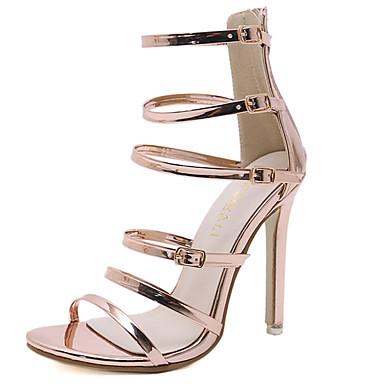 813da15b7c2f Women s Pumps PU(Polyurethane) Summer Classic Sandals Stiletto Heel Open  Toe Gold   Black 6948244 2019 –  26.99