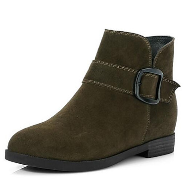 da8093aeb60b Women s Fashion Boots Suede Spring Boots Low Heel Closed Toe Booties   Ankle  Boots Black   Army Green 6975705 2019 –  54.99