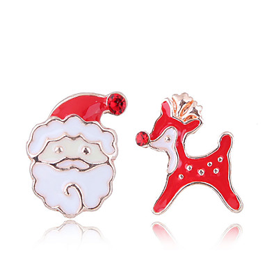 levne Dámské šperky-Dámské Peckové náušnice Neshoda Vánoční santa obleky Elk dámy Evropský Módní Cute Style Náušnice Šperky Červená Pro Vánoce Denní 1 Pair