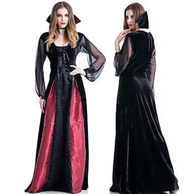 Vampyr Klänningar Cosplay Kostymer   Dräkter Dam Vuxna Klänningar Halloween  Halloween Maskerad Festival   högtid Terylen outfits Svart Halloween  6962408 ... c8362ed012c84