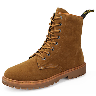 aaea3fe41f92 Men s Combat Boots Suede Winter British Boots Wear Proof Booties   Ankle  Boots Light Brown   Dark Brown 6985946 2019 –  44.99