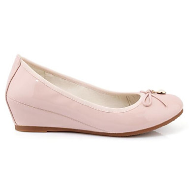 Women s Comfort Shoes Patent Leather Spring Flats Wedge Heel Gray   Pink    Almond 6958115 2019 –  34.99 07325e52b3a