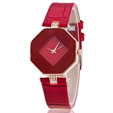 preiswerte Uhren-Damen Uhr Armbanduhr Quartz Gestepptes PU - Kunstleder Schwarz / Weiß / Blau Armbanduhren für den Alltag Analog Modisch Elegant Purpur Rot Blau / Ein Jahr