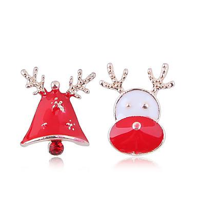 levne Dámské šperky-Dámské Peckové náušnice Neshoda Elk Zvonové dámy Evropský Módní Cute Style Náušnice Šperky Zlatá Pro Vánoce Denní 1 Pair