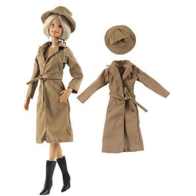 voordelige Poppenaccessoires-Pop Outfit Pop jas Jasje / jack Voor Barbie Kameel Geweven stof Doek Katoenen Doek Jas Voor voor meisjes Speelgoedpop