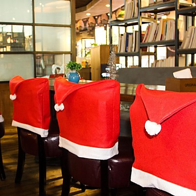 Christmas Chair Back Covers.3 30 Christmas Chair Back Cover Decoracion Navidad Hat Christmas Decorations For Home Dinner Table New Year Xmas Chair Cover