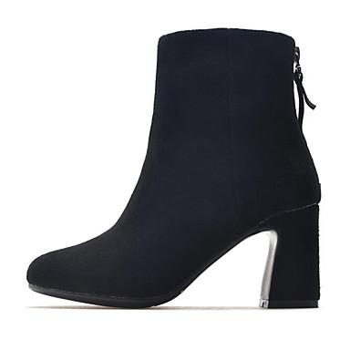d3cd4bef988 Dam Fashion Boots Mocka Höst Stövlar Bastant klack Stängd tå Korta stövlar  / ankelstövlar Brun / Mandel / Vinröd 6978773 2019 – $54.99
