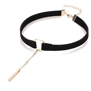 preiswerte Kragen Halskette-Damen Halsketten Klassisch Billig damas Puppen - Lolita PU Aleación Schwarz Braun 31.5+7.5 cm Modische Halsketten Schmuck 1pc Für Alltag Festival