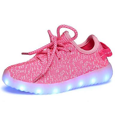 preiswerte Schuhe für Kinder-Mädchen Komfort / Leuchtende LED-Schuhe Tüll Sportschuhe Kleine Kinder (4-7 Jahre) / Große Kinder (ab 7 Jahren) Walking LED Rot / Rosa / Königsblau Sommer / Gummi / EU37