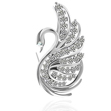 Žene Broševi Klasičan Labud Klasik Boho Broš Jewelry Pink Za Dnevno