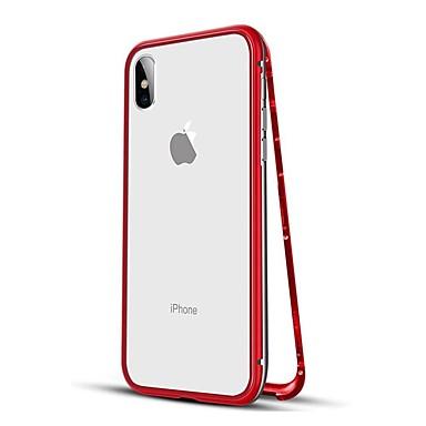 povoljno iPhone maske-Θήκη Za Apple iPhone XS / iPhone XR / iPhone XS Max Otporno na trešnju / S magnetom Korice Jednobojni Tvrdo Metal