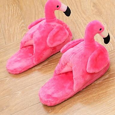 preiswerte Pantoffeln-Damenhausschuhe Pantoffel Freizeit Samt Tier-Druck Schuhe