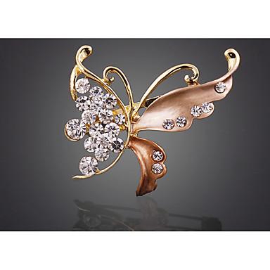 Žene Broševi Retro Rukav leptir pomodan Korejski 1970 Broš Jewelry Tamno crvena Lila Svjetlosmeđ Za Praznik Izlasci
